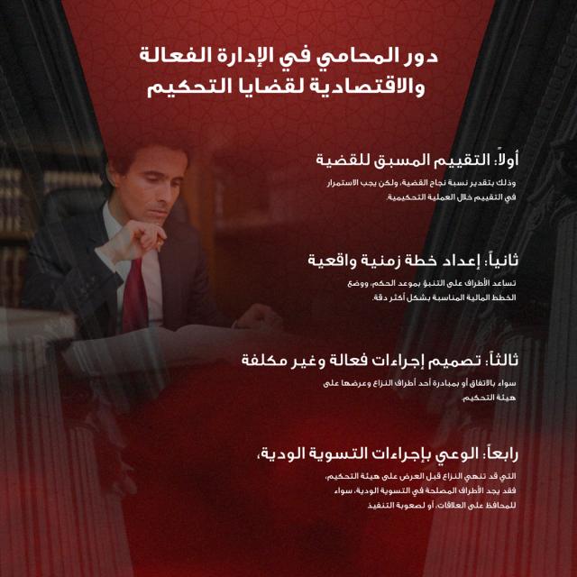 الإدارة الفعالة للمحامي في قضايا التحكيم